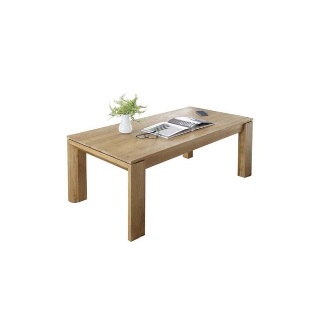 Hellin table basse moderne filigrame en bois ch ne - Table basse en bois naturel ...