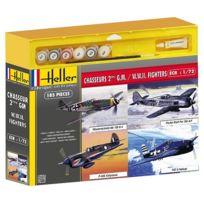 Heller - Maquettes avions Chasseurs de la Seconde Guerre Mondiale : 4 modèles