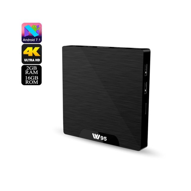 Auto-hightech smart Tv Box Android 4K, WiFi, Google Play, Kodi Tv, Android 7.1, processeur quad-core, 2 Go de Ram, Dlna