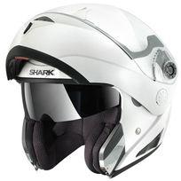 Shark - casque intégral modulable en jet Openline Prime Whu moto scooter blanc brillant L