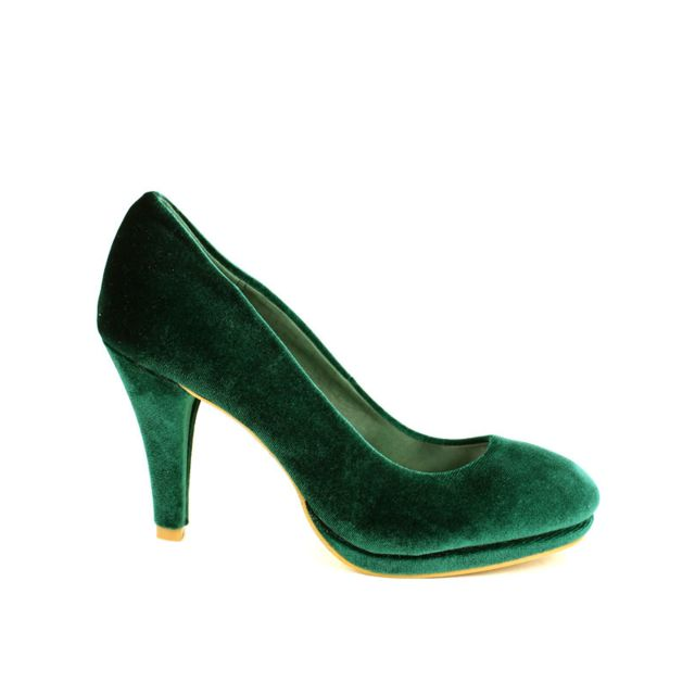 f4c49cf2ec9 Cendriyon - Escarpin Velours Color Vert Stephan 39 - pas cher Achat   Vente  Escarpins - RueDuCommerce