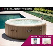 Intex - Spa gonflable PureSpa rond Bulles 6 pl + Kit brome
