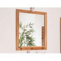 House Bay - Miroir de salle de bain rectangulaire avec tablette en teck L.70cm Wellington