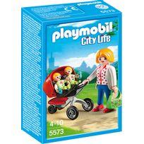 Playmobil - City Life - Maman avec jumeaux et landau - 5573