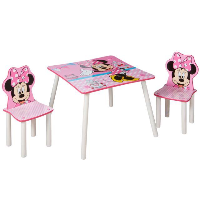 Disney Minnie Mouse Ensemble table et 2 chaises