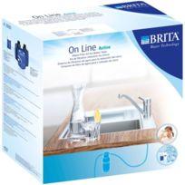 BRITA - kit filtration réduction du chlore sur robinet + cartouche filtrante 10 000l - 1004252