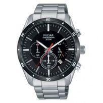 Pulsar - Montre Homme modèle Sport Chronographe Noire et Argentée - Pt3835X1 - cadeau idéal