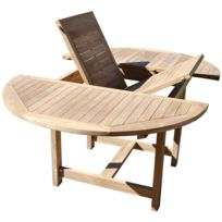 Table jardin bois ronde - catalogue 2019 - [RueDuCommerce - Carrefour]