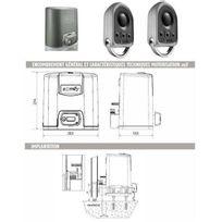 Somfy - Automatisme Motorisation portail coulissant Elixo 500 3S 230V pack standard Rts