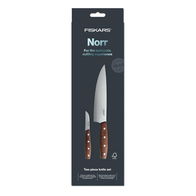 FISKARS Set de 2 couteaux Norr