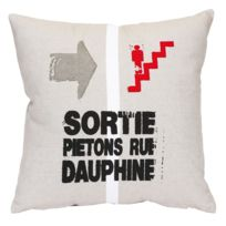 Street Home - Coussin Rue Dauphine 40x40cm