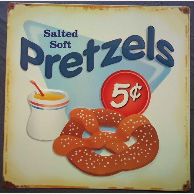 Universel Plaque pretzel bretzel gateau a aperitif deco cuisine bar us