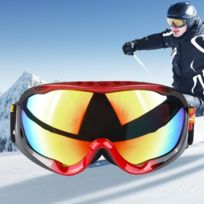 Wewoo - Masque rouge et noir Unisexe Dual Layers Anti-buée Windprooof Uv  protection lunettes b20b114d619c