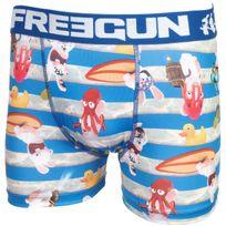 Freegun - Sous vêtement boxer Sea bleu/blc boxer Bleu 28069