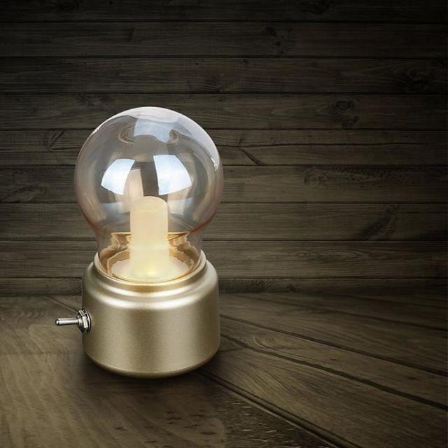 Marsee vintage ampoule led veilleuse usb chevet