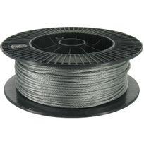 Levac - Câble acier galvanisé Ame textile Diam.4mm Résistance à la rupture 957kg