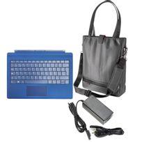 Hobby Tech - Pack de voyage pour Surface Pro - Sacoche pour femme, Clavier Bleu et Chargeur