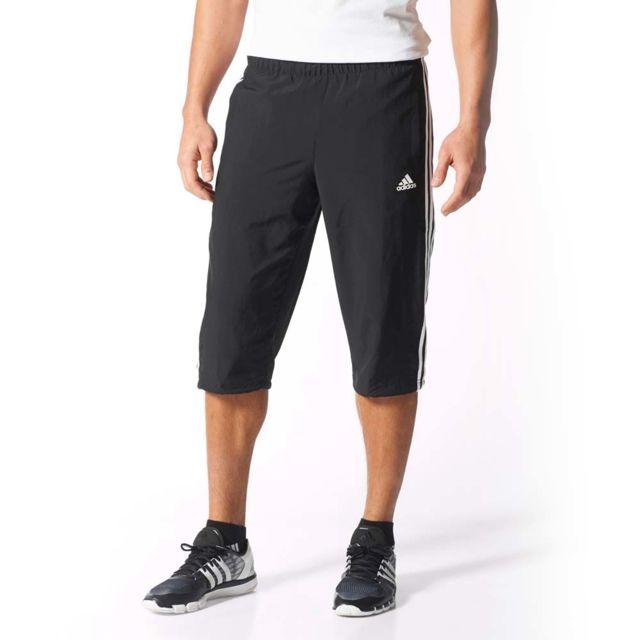 Adidas performance - Pantacourt Essential 3S 3 4 Pant - pas cher Achat   Vente  Shorts 88129680613