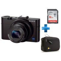 SONY - Pack Amateur -DSC-RX100 + Carte SD 16Go + Housse case Logic