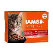 Iams Chat - Iams Delights multibox Saveurs de la Mer en sauce Sea Collection Toutes Races - 12x85 g - Pour chat adulte