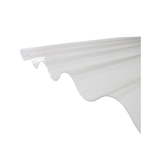 mccover plaque pvc ondul e go 177 51 grandes ondes coloris transparent largeur totale de. Black Bedroom Furniture Sets. Home Design Ideas