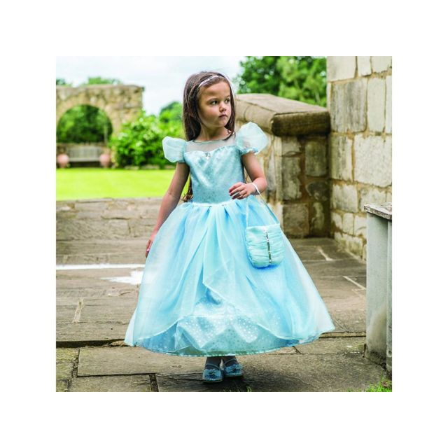 Travis Costume Blue Shimmer Princess blue/silver 3 à 5 ans