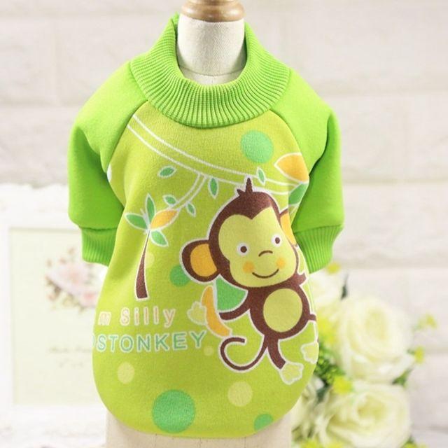 Wewoo Vêtements pour chien Miniature Pull Teddy animaux domestiques Col rond Toison décontractéeTaille S Vert