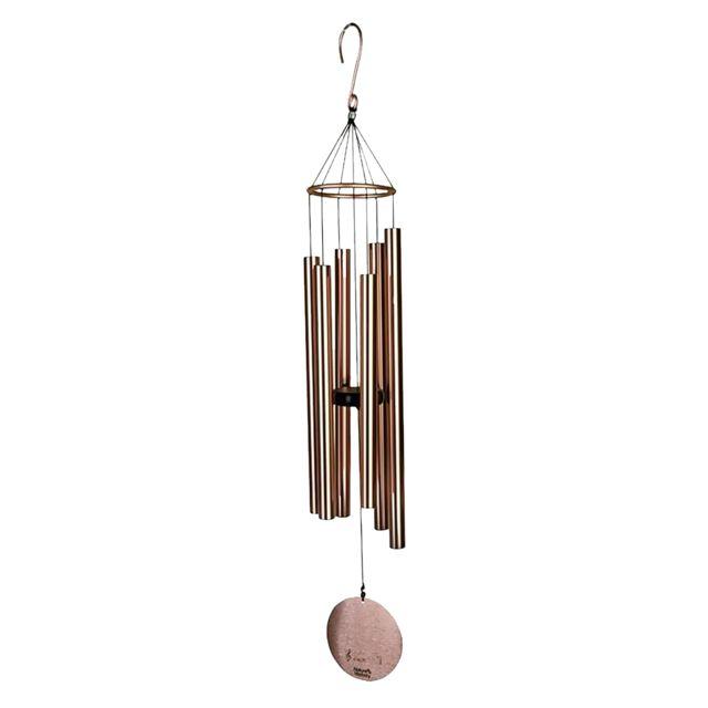 6 tubes cloches fenêtre jardin yard vent carillon décoration de la chambre à la maison cadeaux or rose