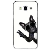 Kabiloo - Coque rigide transparente pour Samsung Galaxy J5 Sm-j500F avec impression Motifs chien à lunettes s
