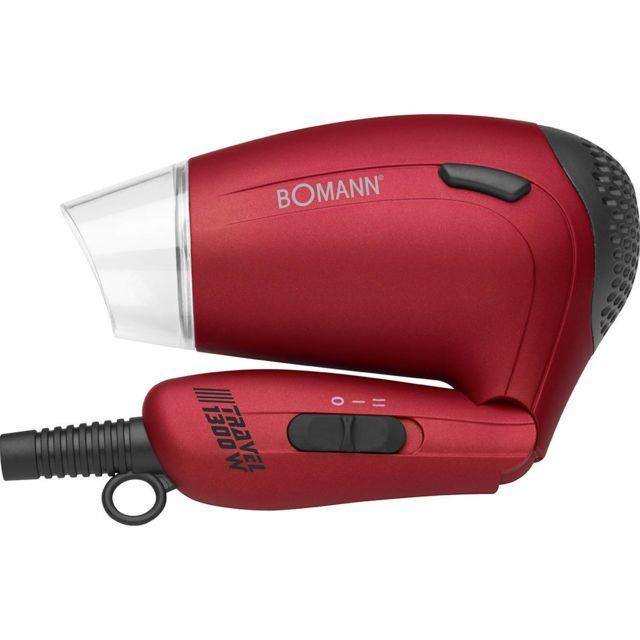 Sèche Cheveux de voyage 2 vitesses 2 temp Poignée pliable diffuseur rouge Htd 8005 Cb