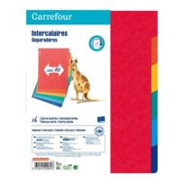 CARREFOUR - Lot de 6 intercalaires Maxi Plus - A4