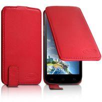 Karylax - Housse Etui Clapet Couleur rouge Universel S pour Bouygues Telecom Bs 471