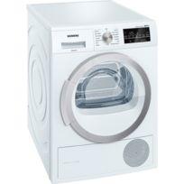 SIEMENS - sèche linge à pompe à chaleur avec condenseur 60cm 8kg a++ blanc - wt47w460ff