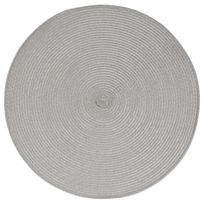 Paris Prix - Set de Table Rond 38cm Gris Clair