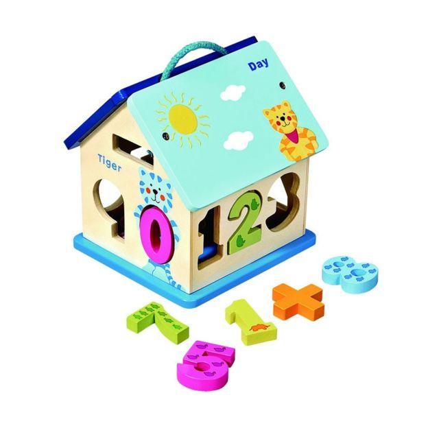 Imagin Maison avec chiffres à encastrer - Jouet éducatif - Multicolore