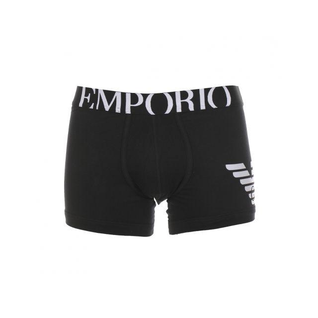 Armani - Boxer long Emporio noir estampillé à large ceinture - pas cher  Achat   Vente Boxers, shorties - RueDuCommerce 23061757b89