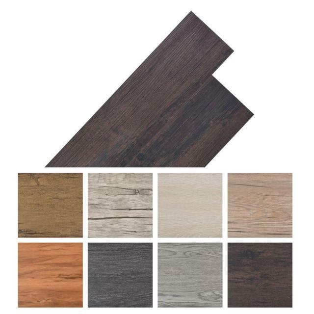 Vidaxl Planche de plancher Pvc autoadhésif 36 pcs 5,02 m² Marron foncé   Brun