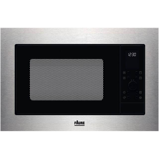 FAURE micro-ondes gril encastrable 25l 900w inox - fmsn7dx