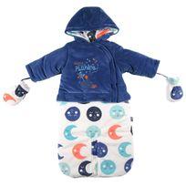 Petit Beguin - Combi pilote bébé garçon Petite Planète - Taille - 1/3 mois 56/62 cm