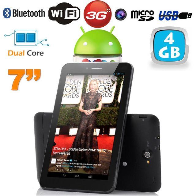 Yonis Tablette tactile 3G Dual Sim 7 pouces Dual Core Bluetooth Gps 4 Go