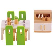 Rocambolesk - Superbe Meubles de salle à manger pour maison de poupée Hape E3454 neuf