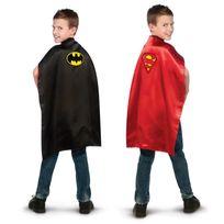 BATMAN - Cape réversible classique et Superman classique Taille STD - I-HG4870