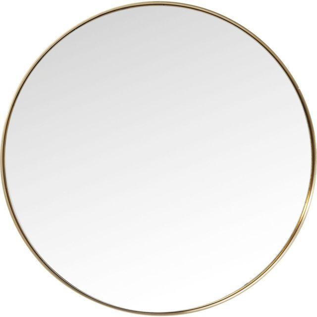 Karedesign Miroir Curve rond laiton 100cm Kare Design