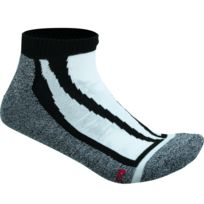 James & Nicholson - Chaussettes basses de sport - Jn209 - noir et gris - sneakers homme femme