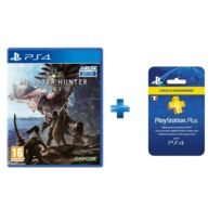 CAPCOM - Monster Hunter World - PS4 + Carte Playstation Plus - Abonnement 3 mois