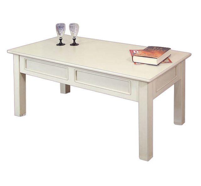 Soldes Arteferretto - Table basse rectangulaire en bois Ivoire ...