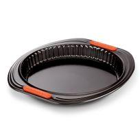 Le Creuset - Moule à tarte en acier anti-adhérent siliconé rond fond amovible 26 cm PÂTILISS
