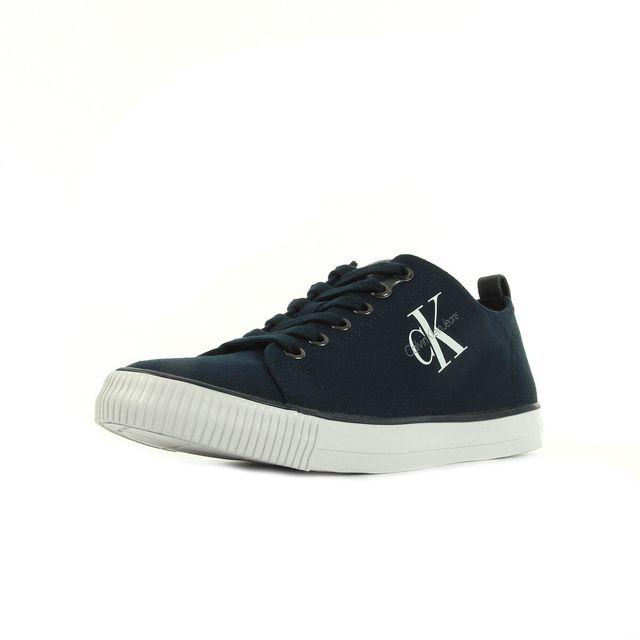 online store 1c484 adf07 Calvin Klein - Arnold Canvas Bleu marine - pas cher Achat   Vente Baskets  homme - RueDuCommerce
