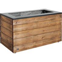 Jardipolys - Jardinière en bois rectangulaire Collectors 90