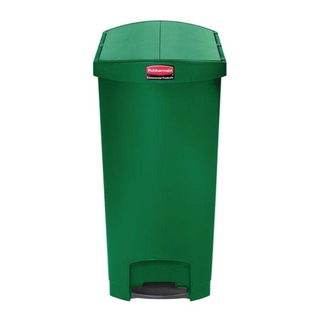 Rubbermaid poubelle p dale frontale troite 90l verte slim jim end step on pas cher achat - Poubelle cuisine etroite ...